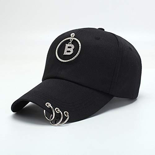 zlhcich Cap weiblichen Buchstaben Wild Cap lässig atmungsaktiv Cap Street Hip Hop Cap -