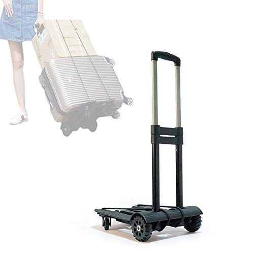 BAIVIN Handklappwagen, tragbarer zusammenklappbarer Rollwagen, Gepäckwagen aus Aluminium zum Laden und Transportieren
