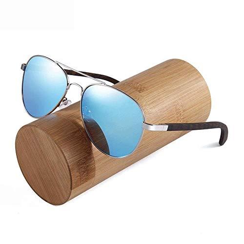 JFFFFWI Ofgcfbvxd-gla Mode Unisex Fahren Sonnenbrille Holz Sonnenbrille Polarisierte für Männer und Frauen Blockieren 100% UV Für Männer \u0026 Frauen Ultraleicht (Farbe: Blau 1, Größe: Casual Größe