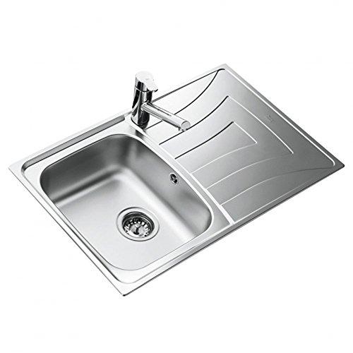 Teka Edelstahl Küchen Spültisch/becken Einbauspüle mit Abtropffläche, UNIVERSO 1C 1E CN MAT