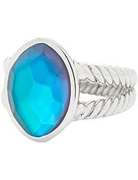 Leonardo Jewels Damen Ring Misterioso Edelstahl Glas blau/grün