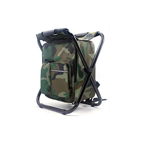 Yuanou Klapp Camping Angeln Stuhl Hocker Rucksack mit Kühler Isolierte Picknicktasche Wandern Camouflage Sitz Tisch Tasche -