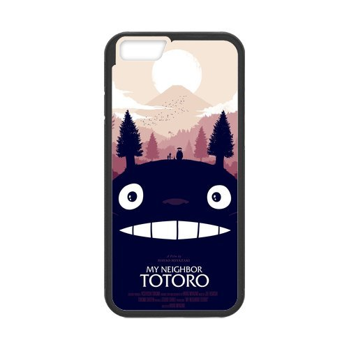 """iPhone 6S (4,7""""inch) Coque de protection en TPU pour, Customize Anime Totoro Case for iPhone 6(4,7"""" inch), [Anime Totoro] étanche Coque de protection arrière en silicone Coque pour iP"""