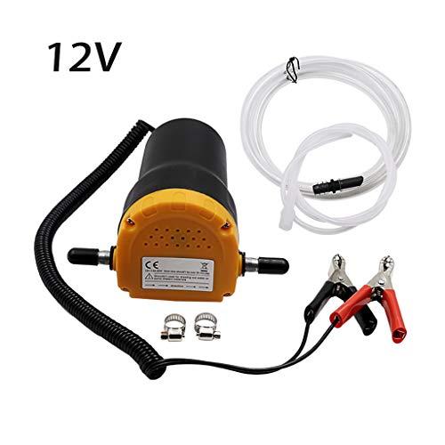 LAOSI - Pompa elettrica per olio da 24 V e 12 V, per motore e aspirazione, per auto, barca, moto 12