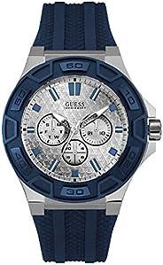 ساعة من جيس للرجال بسوار من السيليكون ومينا اسود - W0674G4