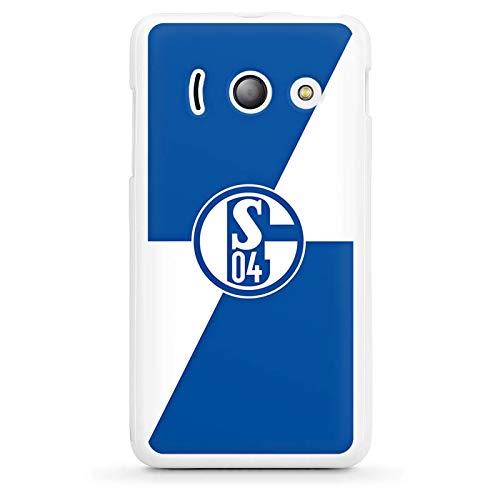 DeinDesign Silikon Hülle kompatibel mit Huawei Ascend Y300 Case Schutzhülle FC Schalke 04 S04 Offizielles Lizenzprodukt
