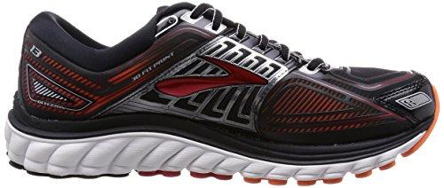 Brooks Glycerin 13 Scarpe da corsa, Uomo Multicolore (Black/High Risk Red/Silver)