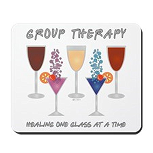 CafePress–Gruppe Therapie Mousepad–rutschfeste Gummi Mauspad, Gaming Maus Pad (Bier-pong-sprüche)