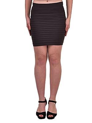 N-Gal High Waist Seamless Black Pleated Mini Skirt