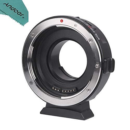 VILTROX EF-M1 Autofokus AF Objektiv Adapter Konverter mit Blendeneinstellung für Canon EF EF EF-S Objektiv auf M4/3 Kameras Panasonic GH5 GH4 GX7 GF7 GM5 Olympus OM-D E-M5 E-M10,mit USB-Schnittstelle