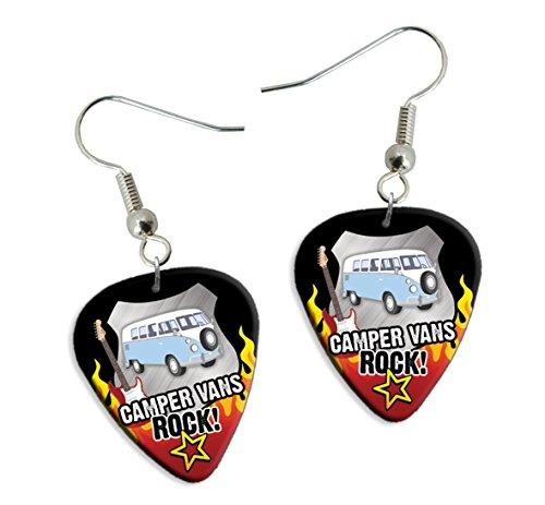 Camper Van Vans Rock Gitarre Plektrum Pick Ohrringe Earrings (R1)
