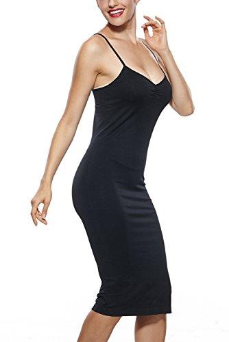 Franato - Robe - Sans Manche - Femme Noir - Noir
