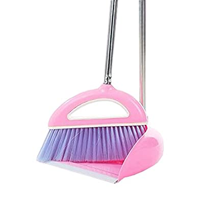 Alien Storehouse Durable Removable Broom und Dustpan Standing Upright Griffe Sweep Set mit Langem Griff, A1