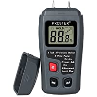 Proster Feuchtmessgerät RZMT-10MD für das messen von Holz-Feuchtigkeit und Luftfeuchtigkeit mit HD-LCD (Bereich 0–99,9%)