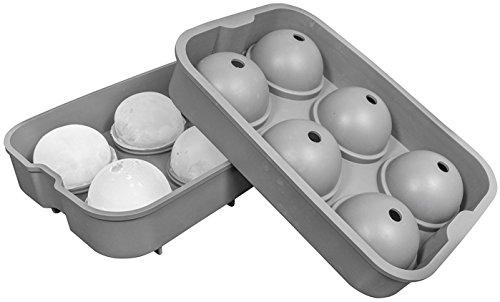 Oishii Xxl Eiswrfel Form Aus Silikon Fr 6 Groe Eiskugeln Durchmesser 45 Cm