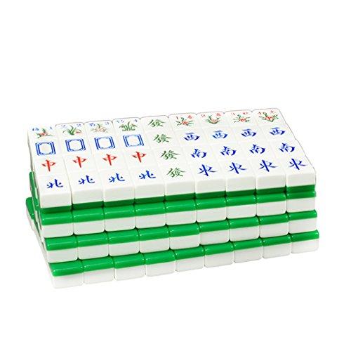 LI JING SHOP - Home Hand reiben große Mahjong, grün Acryl Mahjong Karte Größe: L-4.2 * 3.1 * 2.3CM ( größe : 4.2*3.1*2.3CM )