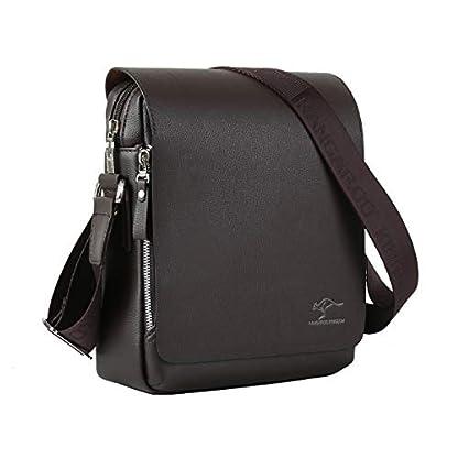 41760E55KqL. SS416  - Leathario Bolso Hombro Hombre Cuero Sintetico Bandolera de Mano Pequeño Casual Moda Shopper
