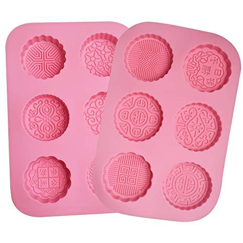 BESTZY 2pcs 6 Hohlräume Silikonform Handgemachte Seifenformen Silikon Seifenform für Seife DIY Formen für Backen,Kuchen,Schokolade - Silikonform