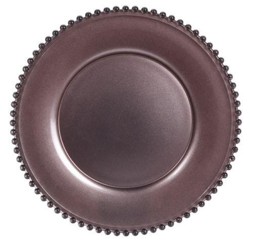 34 cm sans plomb Verre de Cristal Assiette de Assiette de service Marron
