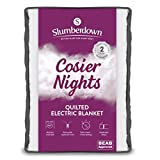 Slumberdown Electric Blanket, Cotton, White