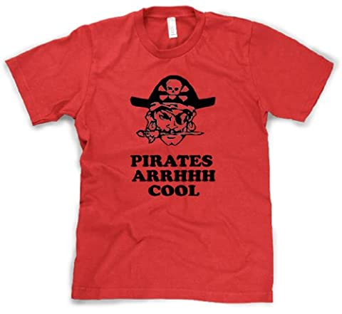 Crazy Dog TShirts - Youth Pirates Arghhh Cool T Shirt Funny Vintage Adventure Tee For Kids (red) S -
