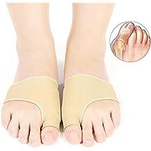Juanetes Corrector 2par Separador de dedos de pie Mangas con Gel Hallux Valgus Bunion tratamiento aliviar