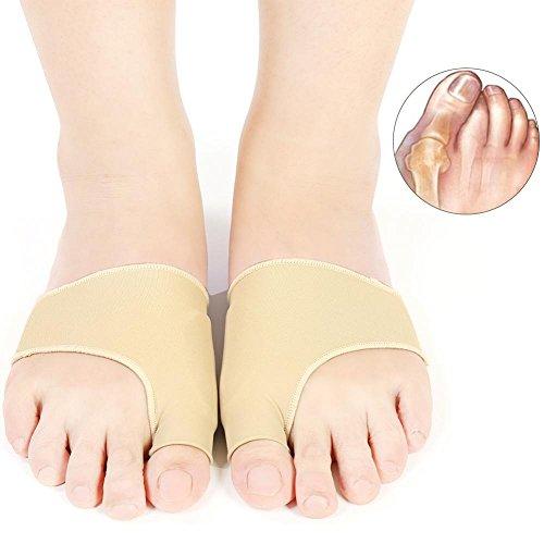 Ballen Corrector 2Paar Gel Hallux valgus Schiebe Finger Fuß Ärmel Bunion Behandlung lindern Schmerzen für Nacht und Tag I