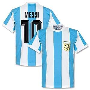 1978 Argentina Home Retro Messi Shirt - XXL