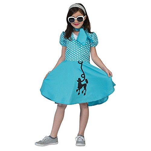 Bristol Novelty Pudel Kleid Blau (L) Kinder Alter -