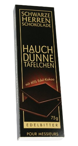 Sarotti Schwarze Herren Hauchdünne Täfelchen (Herren-edelbitter-schokolade)