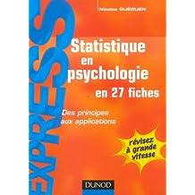 Statistiques en psychologie