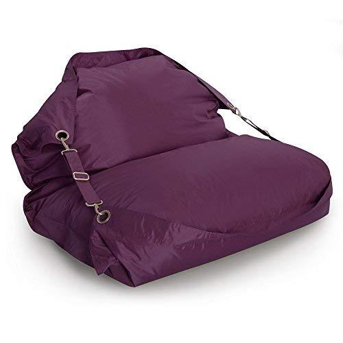 Bazaar Bag Flex Bean Bag Sessel, mit Gruten, für Innen- und Außenbereich, Violett