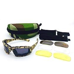 Easy Go Shopping Tácticas de Vidrio Militar Camuflaje Ejército Gafas de luz polarizadas Gafas de Sol y Espejo Plano (Color : Amarillo, Size : OneSize)