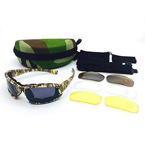 L.Z.H Brille Militärische Glastaktik-Armeetarnung-polarisierte Licht-Schutzbrillen Gläser (Color : Gelb, Size : One Size) -