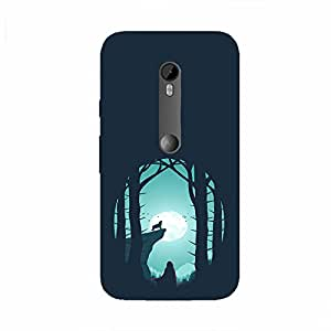 Back cover for Moto G Turbo Night Wolf