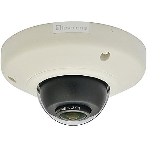 LevelOne FCS-3093 - Cámara de vigilancia (IP, Interior y exterior, Dome, Color blanco, Wall/Ceiling, 2592 x 1944
