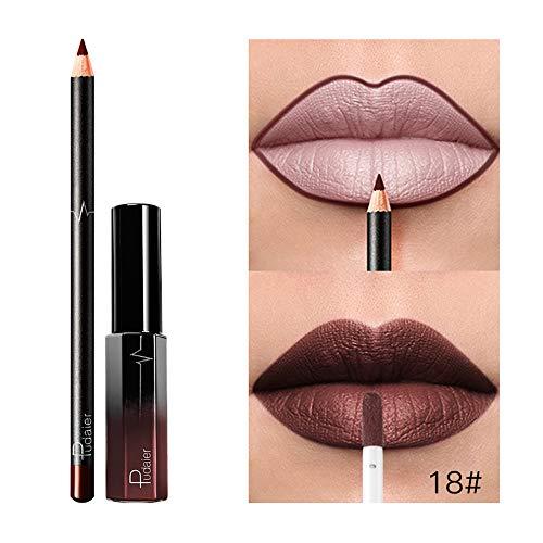AMUSTER Rouges à lèvres Mat liquides Longue Durée Rouge à Lèvres Liquide Waterproof Hydratant Brillant Maquillage à Lèvres (I)