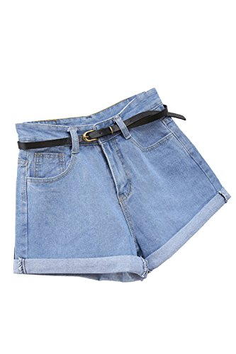 Yulinge le donne estate casual alta vita pantaloncini sexy jeans blue l