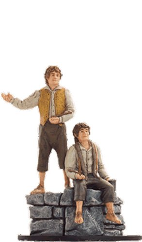 Lord of the Rings Señor de los Anillos Figurine Collection Nº 34 Merry & Pippin 1