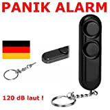 Schlüsselanhänger Handtaschen Alarm Sirene Selbstverteidigung Überfall Camping Panik LKW PKW Handgerät Taschenalarm Knopf Sirene