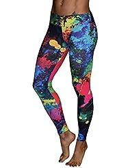 Pantalones deportivos Sannysis Mujer Pantalones deportivos de running colorful (01, S)