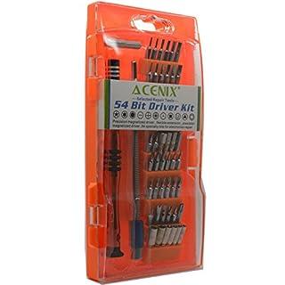 ACENIX Universal Reparaturset 54in 1Magnetic Treiber Kit mit Precision Schraubendreher-Set Handy, iPhone, Samsung, Tablet PC, MacBook, MacBook Air Electronics Repair Tool Kit [S2Legierung Stahl Material]