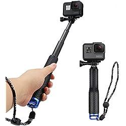 AFAITH Perche à Selfie pour caméra GoPro, 19 Rallonge réglable Monopode pôles pour GoPro Hero 8/Hero7 Black/Hero (2018)/Hero 6 5 4 Session Sony Action Cam SJCAM Xiaomi Yi DJI OSMO Action Cam RS002