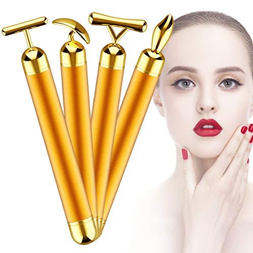 Ruiqas 4-en-1 24k Gold Beauty Bar Micro masajeador