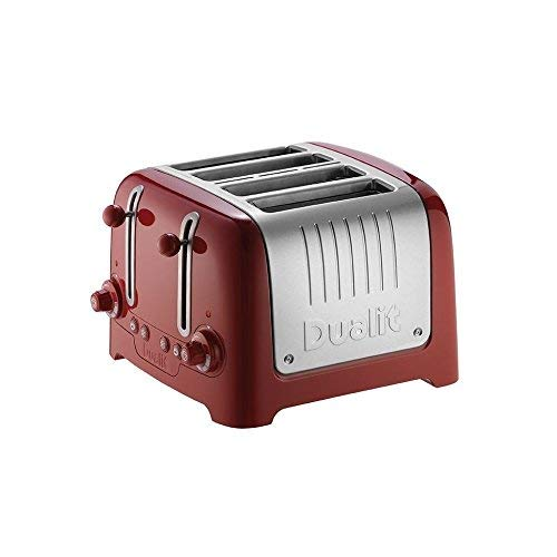 Dualit 4-Scheiben-Toaster DK Rot gebürstet (Dualit Slice 4 Toaster)