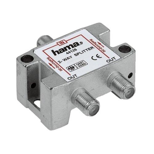 Verstärker-splitter Kabel-tv (Hama SAT-Verteiler, 2-fach, voll geschirmt (Amazon Frustfreie Verpackung))