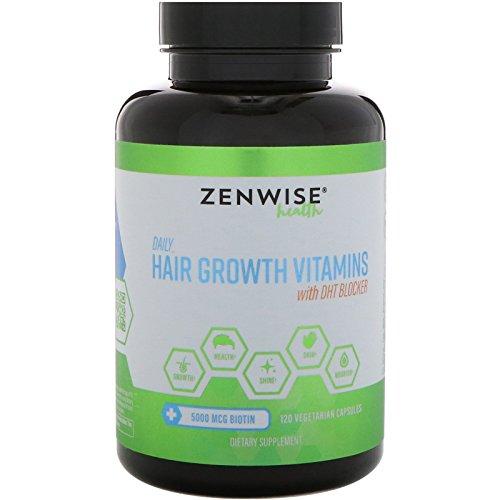 Dht Haarwachstum (Haarwachstum, Vitamine Plus DHT Blocker, 120 Veggie Caps - Zenwise Gesundheit)