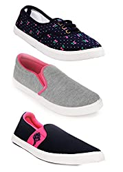 Scantia Women Combo Pack of 4(Casual Shoes With Loafer & Maccosins & Sneaker Shoe)