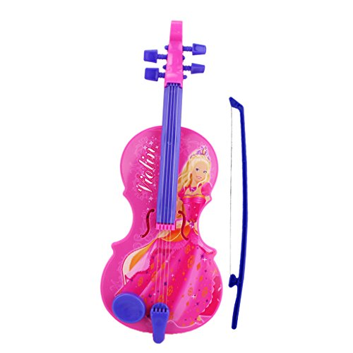 Homyl Child Simulation Music & Art Electric Violin Instrument with Light Musical Toy Educational Play Activity