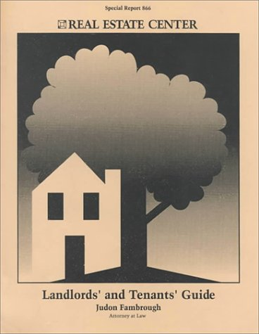 Landlords' and Tenants' Guide: Special Report 866